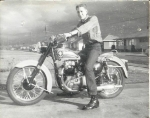 Gary Buttice in 1958 on his Golden Flash