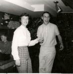 Elaine Logan and Steve Knapp (58) bopping at a party December 1958