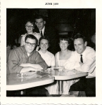 All Night Graduation Party June 59 Mike Ryles 58, Judy Durand, Rosemary Foss, Jerry Lee 58, Elaine Logan, Steve Knapp 58