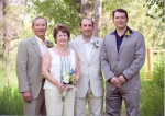 Richard, Helene (spouse), Bryan Jaffe (youngest son), Jay Jaffe (oldest son)