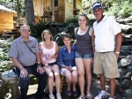 Jerry Depping and Mel Blue and his wife, Cecelia, daughter Lisa and granddaughter, Maddie