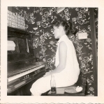 Shirley Weathers at the player piano