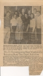 Union Bulletin Article about Homecoming Royalty candidates '58-'59