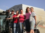 Bart,Rose Owsley and their girls,harvest their last crop.2008